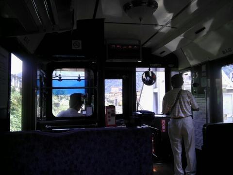 南阿蘇鉄道の車内