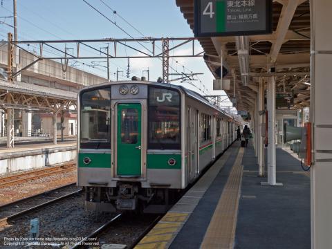 東北本線 701系電車(黒磯駅)