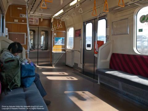 東北本線701系電車の車内