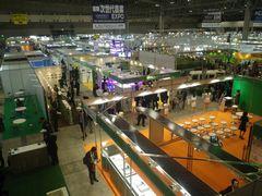 [写真]幕張メッセで開催中の農業資材エキスポの様子
