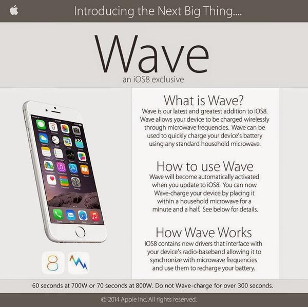 「iOS8」により、iPhoneが電子レンジで充電可能に……なるわけないっしょ 恒例のデマにご注意を
