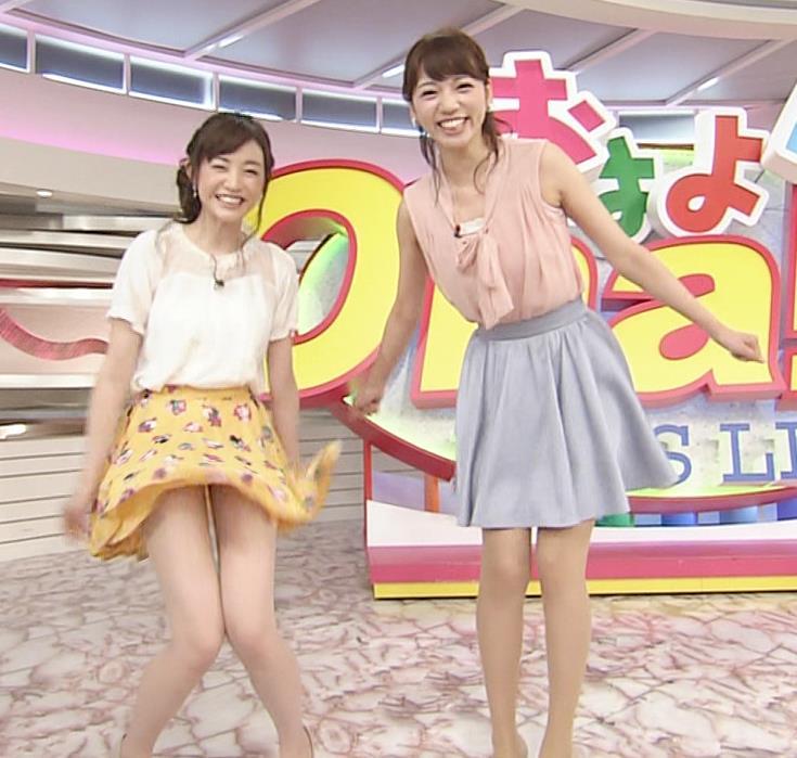 新井恵理那 大胆!スカートひらりキャプ画像(エロ・アイコラ画像)