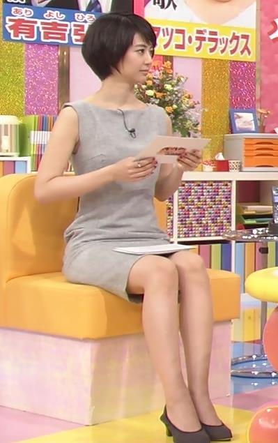 夏目三久 ミニスカ美脚 露出が多いワンピースキャプ画像(エロ・アイコラ画像)