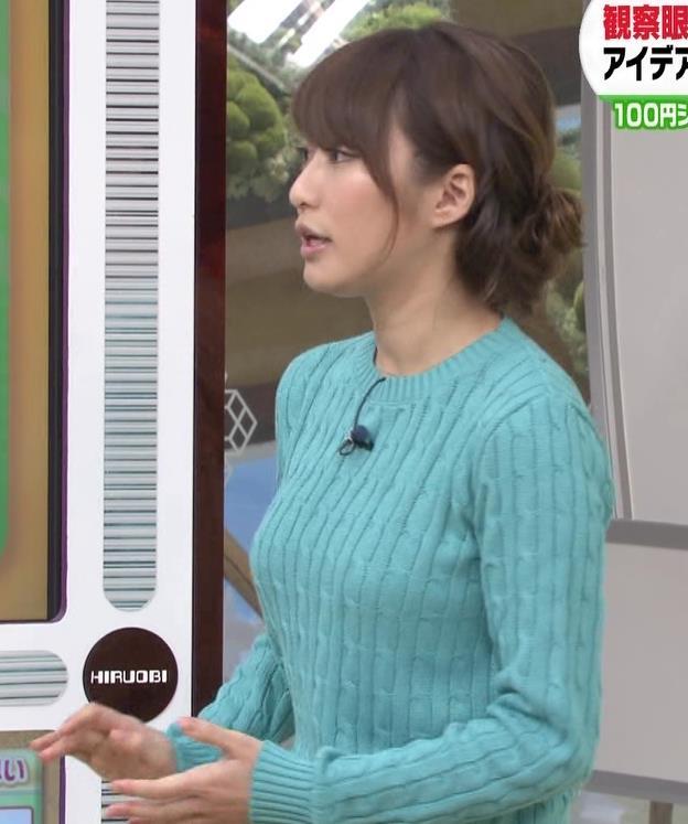枡田絵理奈 巨乳×セーター=エロいキャプ画像(エロ・アイコラ画像)