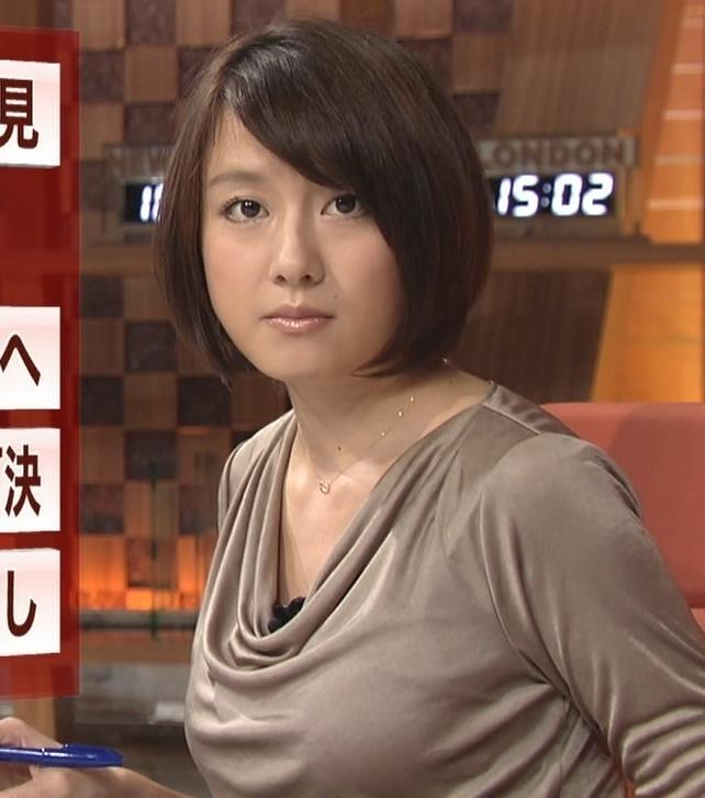 大島由香里 巨乳横乳キャプ画像(エロ・アイコラ画像)
