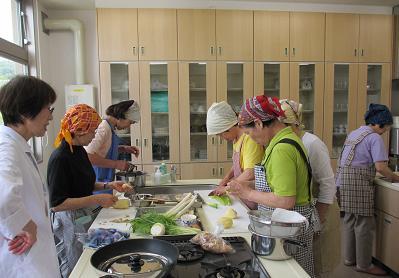 楽しい料理教室でした・・・