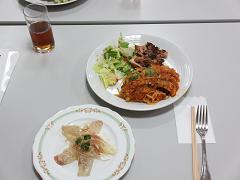 出来上がったとても美味しい料理