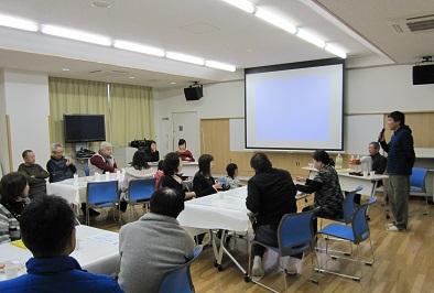 韓国の文化とキムチについて留学生が熱演