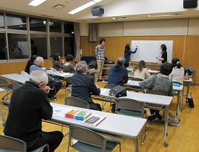 中級クラスは、10名参加で熱心な教室に・・・