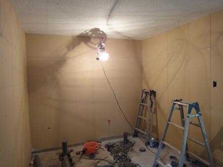 某施設トイレ新設工事~内装下地