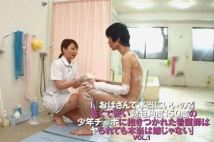 【若くて硬い勃起角度150度の少年チ○ポに抱きつかれた看護師は…】ノンケ図鑑